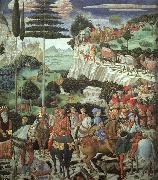 Procession of the Magus Melchoir, Benozzo Gozzoli