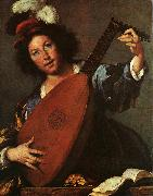 Bernardo Strozzi Lute Player oil painting reproduction