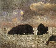 Grizzly Bears, Bierstadt, Albert