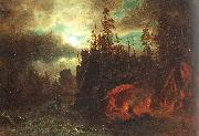The Trappers' Camp, Bierstadt, Albert