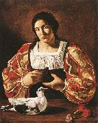 Woman with a Dove sdv