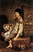 CERUTI, Giacomo Boy with a Basket oil painting on canvas