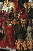 CHARONTON, Enguerrand The Coronation of the Virgin, detail: the crowd iyu oil painting reproduction