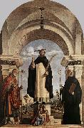 St Peter Martyr with St Nicholas of Bari, St Benedict and an Angel Musician dfg, CIMA da Conegliano