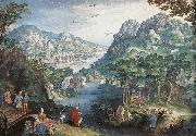 Mountain Landscape with River Valley and the Prophet Hosea dsg