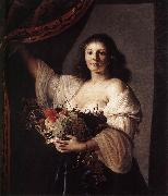 Woman with a Basket of Fruit fgf