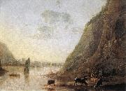 River-bank with Cows sd