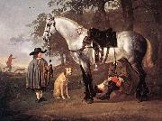 CUYP, Aelbert Grey Horse in a Landscape dfg oil painting reproduction