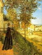 Camille Pissaro Louveciennes : The Road to Versailles oil painting on canvas