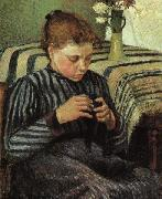 Camille Pissaro Girl Sewing oil painting reproduction