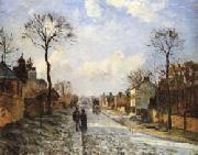 Camille Pissarro The Road to Louveciennes oil painting