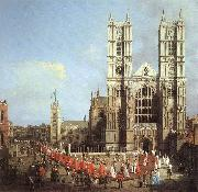London: Westminster Abbey, with a Procession of Knights of the Bath  f, Canaletto