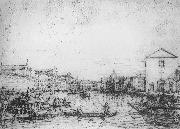 Grand Canal: Looking North-East from Santa Croce to San Geremia vf, Canaletto