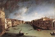 Grand Canal, Looking Northeast from Palazo Balbi toward the Rialto Bridge, Canaletto