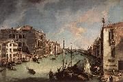 Grand Canal, Looking East from the Campo San Vio, Canaletto