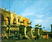 Capriccio, The Horses of San Marco in the Piazzetta, Canaletto