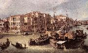 Grand Canal: Looking North-East toward the Rialto Bridge (detail) d, Canaletto