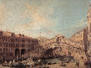 Grand Canal: The Rialto Bridge from the South f, Canaletto