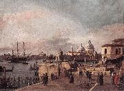 Entrance to the Grand Canal: from the West End of the Molo  dd, Canaletto
