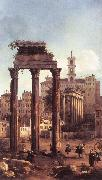 Rome: Ruins of the Forum, Looking towards the Capitol d