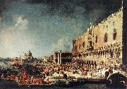 Arrival of the French Ambassador in Venice d, Canaletto