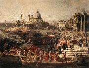 Arrival of the French Ambassador in Venice (detail) f, Canaletto