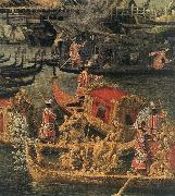 Arrival of the French Ambassador in Venice (detail) d, Canaletto