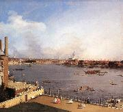 London: The Thames and the City of London from Richmond House g, Canaletto