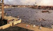 London: The Thames and the City of London from Richmond House (detail) d, Canaletto