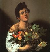 Caravaggio Youth with a Flower Basket oil painting reproduction