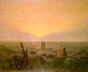 Caspar David Friedrich Moon Rising Over the Sea oil painting