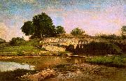 Charles Francois Daubigny The Flood Gate at Optevoz oil painting
