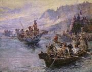 Lewis and Clark on the Lower Columbia, Charles M Russell
