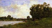 Cattle on the Bank of a River, Charles-Francois Daubigny