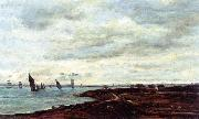 The Banks of Temise at Erith, Charles-Francois Daubigny