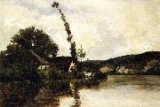 Charles-Francois Daubigny River Landscape oil painting reproduction