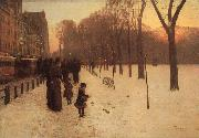 Boston Common at Twilight, Childe Hassam