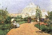 The Chicago Exhibition, Crystal Palace, Childe Hassam