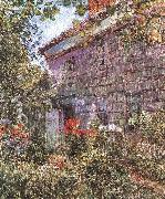 Old House and Garden at East Hampton, Long Island, Childe Hassam
