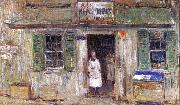 News Depot at Cos Cob, Childe Hassam