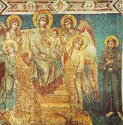 Cimabue Madonna Enthroned with the Child, St Francis and four Angels dfg oil painting on canvas