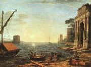 Claude Lorrain A Seaport oil painting reproduction