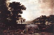 Claude Lorrain Landscape with Merchants sdfg oil painting