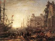 Claude Lorrain Port Scene with the Villa Medici dfg oil painting