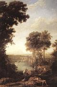 Claude Lorrain Landscape with the Finding of Moses sdfg oil painting