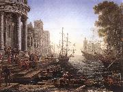 Claude Lorrain Port Scene with the Embarkation of St Ursula fgh oil painting
