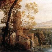 Claude Lorrain Landscape with Dancing Figures (detail) dfg oil painting on canvas