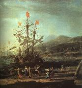 Claude Lorrain The Trojan Women Setting Fire to their Fleet oil painting reproduction