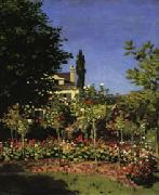 Garden in Bloom at Sainte-Adresse, Claude Monet