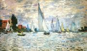 The Barks Regatta at Argenteuil, Claude Monet